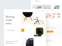 Renting Website - Homepage