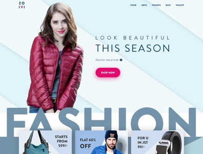 Shopping theme - Zoivi fashion design fashion shop dailyui shopping logo webdesign website ui design