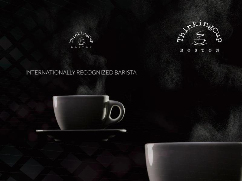 Thinking Cup - Barista website design concept uichallenge daily challange ui ux illustration webdesign dailyui website design