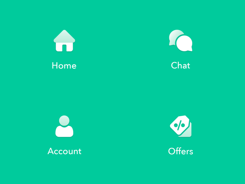 Bottom Menu Icons navigation design navigation menu navigation bar logo icon design iconography menuicons menu brand styleguide design webdesign iconset icons icon