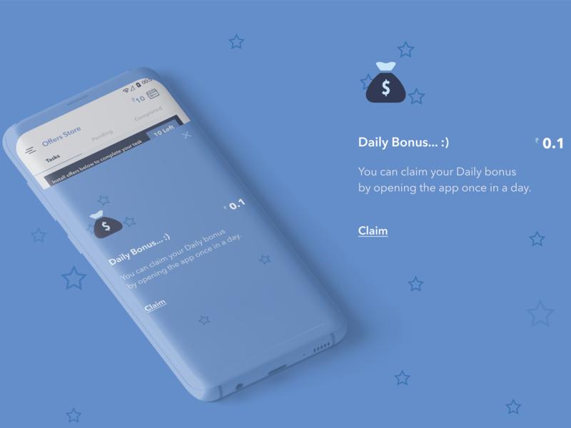 Offer Store - Daily Bonus mobile design mobile ui mobileapp application branding designs ux uichallenge ui illustration dailyui webdesign design