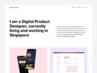 Portfolio design system dbs bank singapore html css html minimal product design landing page portfolio