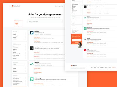 Rubberduck portal filters sidebar cards platform web job