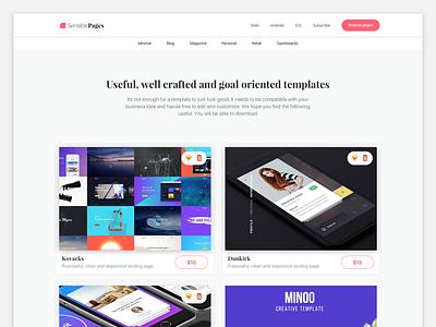 Sensible Pages minimal templates themes