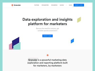 Granular Landing Page Wip analytics charts landing page ads data