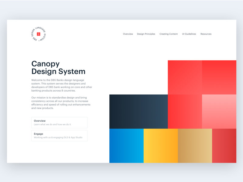 Design System landing page branding design system minimal