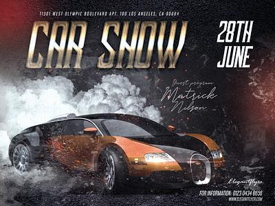 Car Show –  PSD Flyer Template templates template smoke psd premium flyers flyer events event car show car