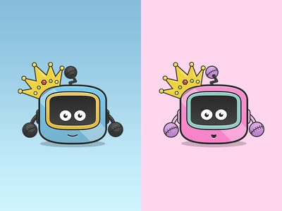 Royal Babies babies royal colour blue pink robot character cute
