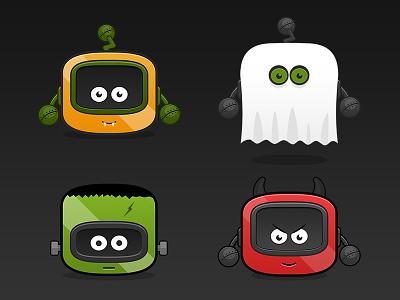 Happy Halloween! halloween scary robot seasonal devil frankenstein ghost pumpkin
