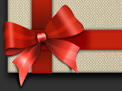 Bow xmas bow present email texture pattern glow noise red