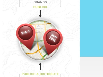Map it map pins pointer brands publish flow arrows