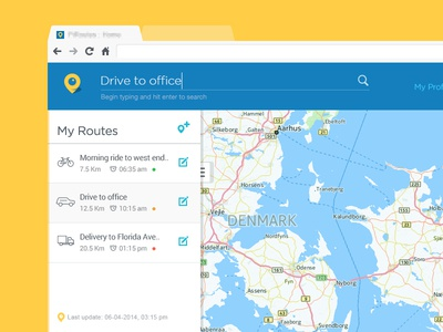 Routes Navigation page