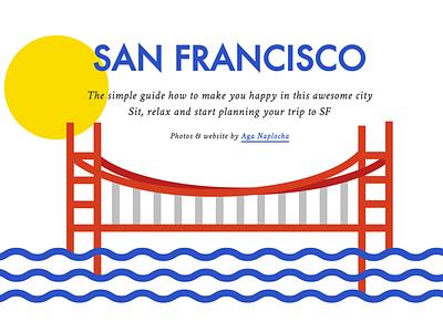San Francisco Photo Diary minimalistic bridge hero blue colorful svg flat sf san francisco