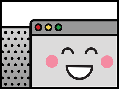 Happy Browser smile happy icon simple flat grey interface browser ui poster