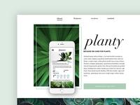 Planty - landing page