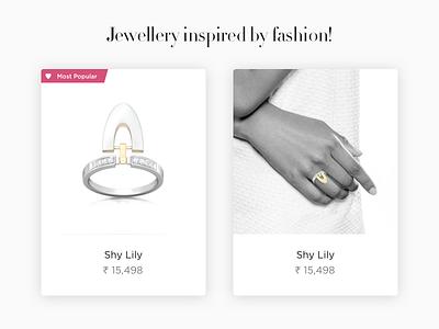 Jewellery Card ecommerce price card jewellery