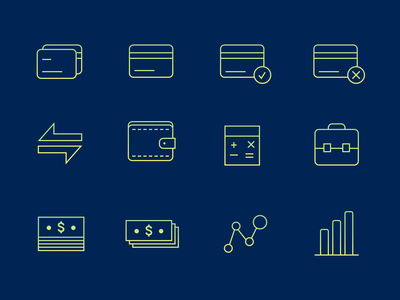 Finance Iconography set icon artwork sketchapp digital illustration finance iconography