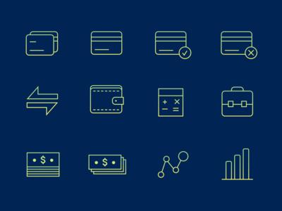 Finance Iconography set