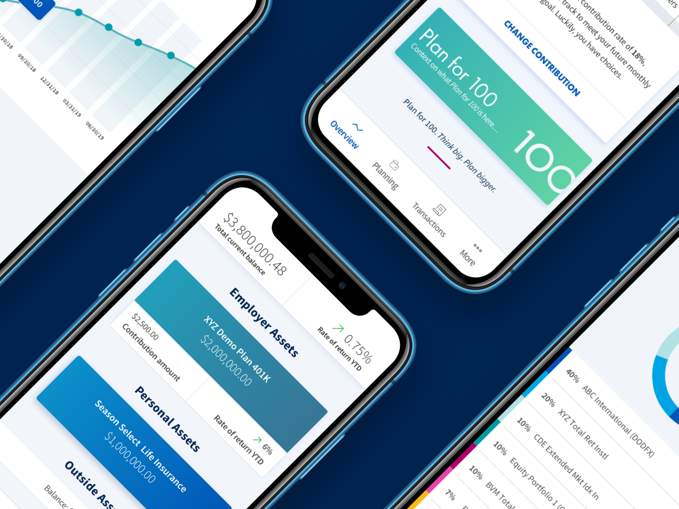 Mobile App Design for AIG Retirement Services ios app mobile app finance