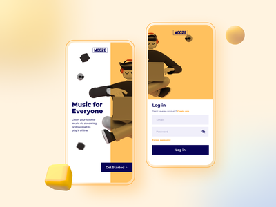Music Streaming Welcome Screen UI Design 10ddc welcome screen welcome page music app music ui inspiration ui design uidesign ui  ux 3d art illustration design ux ui inspiration