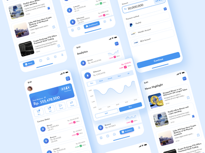 Crypto App Mobile UI Design crypto app crypto dashboard crypto wallet crypto trading crypto cryptocurrency mobile app design mobile app mobile ui uidesign inspiration design ux ui inspiration design