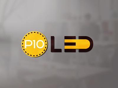 P10 Led - Logo design visual identity vector adobe illustrator adobe photoshop illustrator photoshop octavian stroilescu logovision logotype logodesign graphicdesigner designer logodesigner branding graphicdesign logo design design