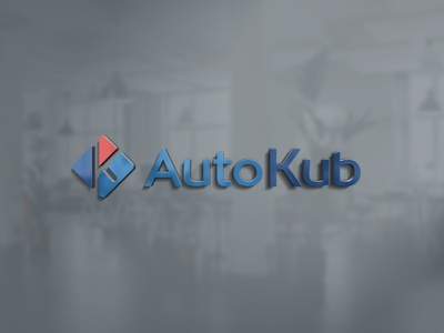 AutoKub - Logo design visual identity vector adobe illustrator adobe photoshop illustrator photoshop octavian stroilescu logovision logotype logodesign graphicdesigner designer logodesigner branding graphicdesign logo design design