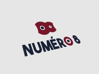 logo numero8 presentation branding vector typography logo