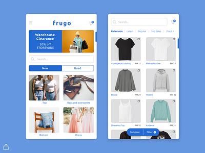 Frugo Shopping App shopping app logo design app