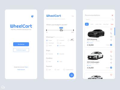 Car Dealership App grey recommendation compare button greyscale secondhand car car dealer ui car dealership logo design app