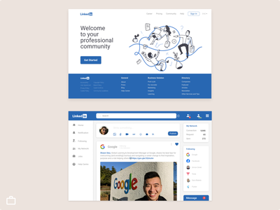 Linkedin Web redesigning redesign website design blue linkedin job portal job board job listing design