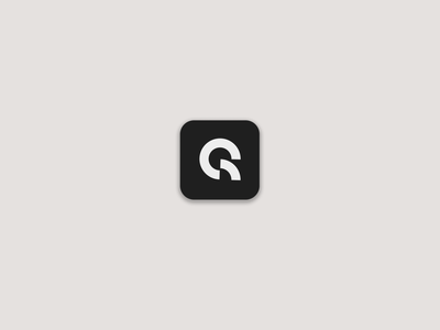 iOS Q Lettermark Icon Concept icon app design flat minimal logo
