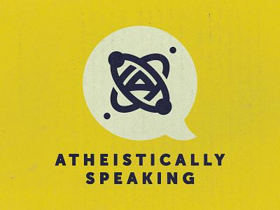 Atheistically Speaking Podcast podcast retro a atomic atom logo atheism