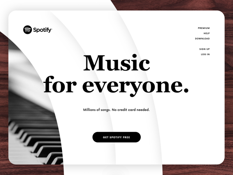 Daily UI 003 - Landing Page (above the fold) uxdesign uiuxdesign uiux landing page landingpage spotify interface dailyui 003 daily ui 003 daily ui dailyui 100 day project 100 day challenge 100daychallenge
