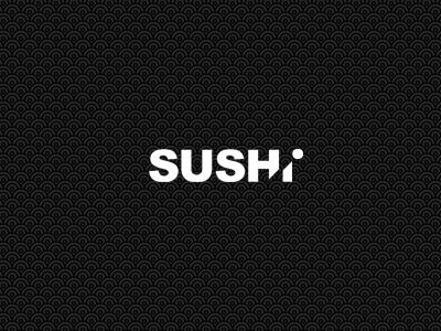 Sushi Logo symbol identity icon branding white black logo sushi