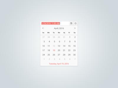 Date & Time Picker component widget ui dropdown calendar time date timepicker datepicker
