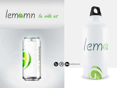Lemomn \ isologo + packaging design by Jaime Claure design packaging salud health green life brand branding logo isologo soda
