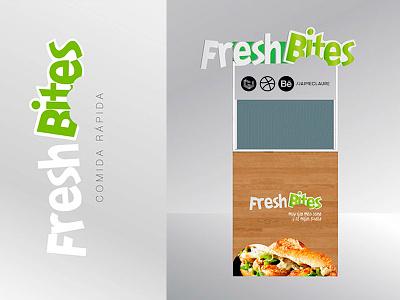 Fresh Bites \ isologo design by Jaime Claure fresh eco food logo isologo salud health green juice