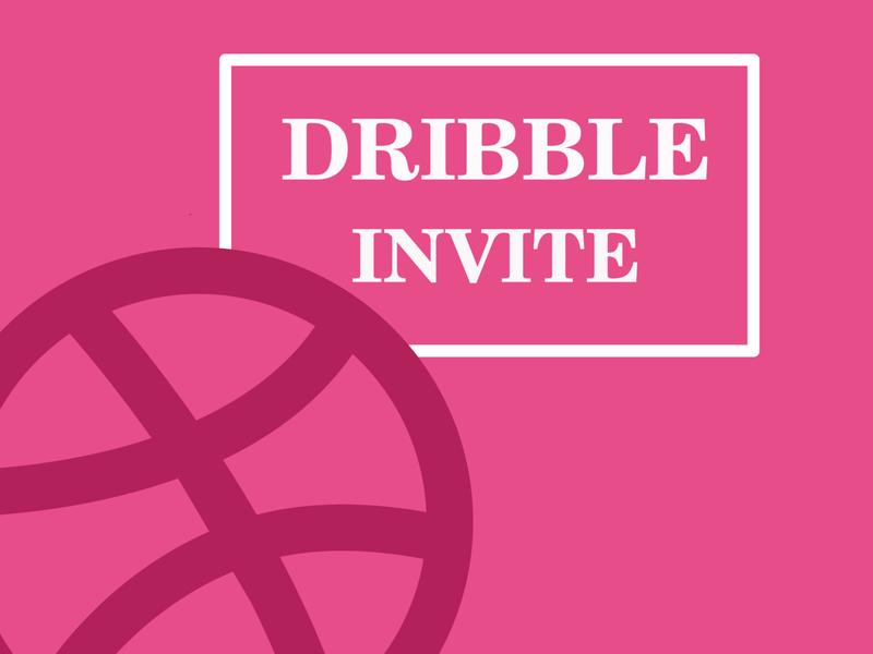 Dribble invite giveaway graphic design graphicdesign vector illustration cartoon ball pink competition invitation dribble invite giveaway giveway invite