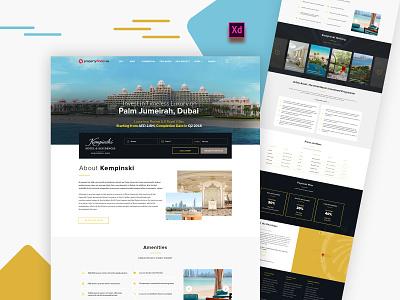 property website design icon illustration dribbble ux typography logo webdesign uidesign dubai website designer uiux ui designs property website ui design website design web