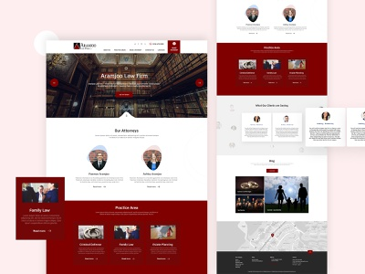 Law website design typography website design latestdesign design ui ux flatdesign dubaidesigner dribbble uidesign