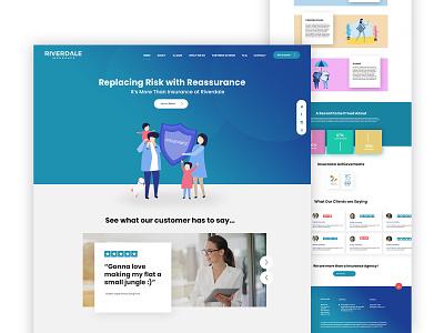 Riverdale Homepage Design❤️ branding logo webdesign website website design design flatdesign ui ux dubaidesigner uidesign