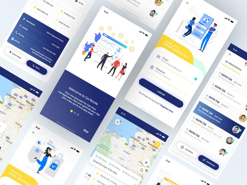 Taxi app design mobile app mobile ui flatdesign typography ux dubaidesigner uidesign