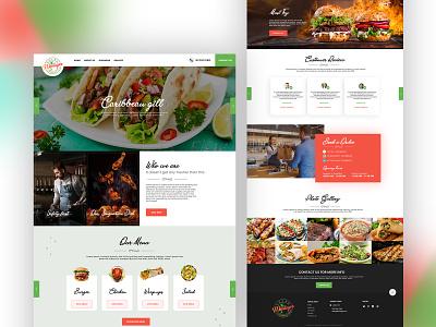Food Website design website design branding logo flatdesign latestdesign typography dribbble dubaidesigner uidesign
