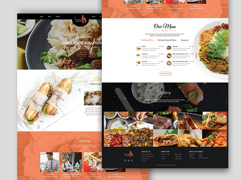 LANKA FOOD SOLUTION trend latest new templete layout design landing contact page wp-ui dribbble