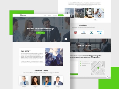 Dama Investment flatdesign dubaidesigner latestdesign ui ux dribbble uidesign website development websites website designer website design