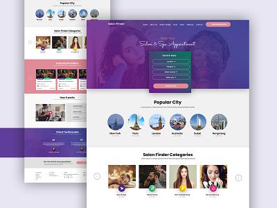 Salon Finder Concept dubaidesigner latest design typography flatdesign dribbble development website designing landiing page template latest trend concept design ui design web site website design