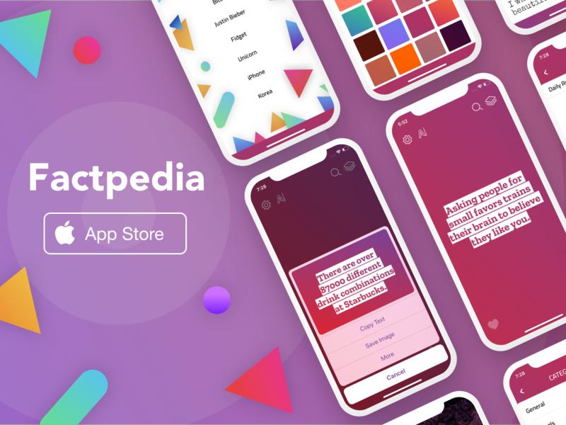 Factpedia Banner factpedia sketch app mobile ios sketch poster banner ad