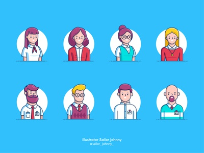 "People icons for ""Zeitgold"""