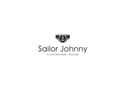 Logo Sailor Johnny logotype black  white sailor logodesign design logovector vectorlogo vector logo